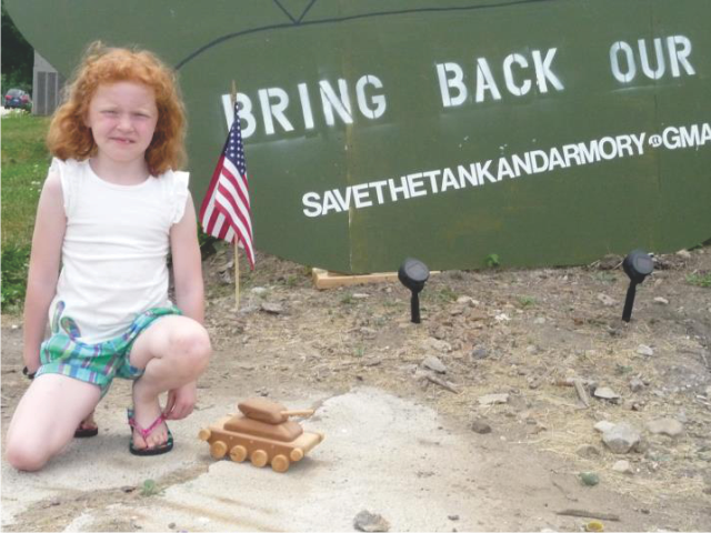 Eaton resident, 7-years old donates her daddy's wooden toy tank in remembrance of the original!